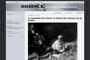nueva página web 2.0 de diseño creativo para sherlock films 3