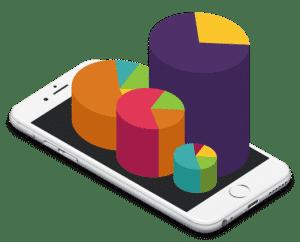 Gráfico de cómo se populariza una app