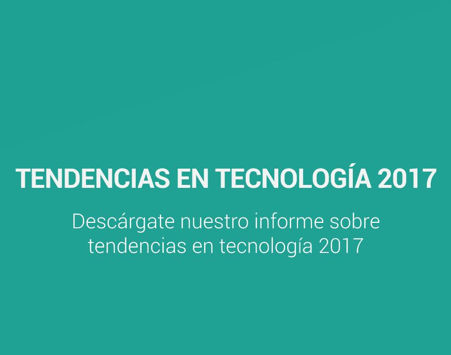 Portada del informe sobre Tendencias en Tecnología 2017